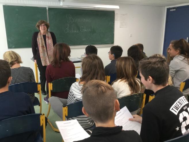 Chantal Cahour au collège !