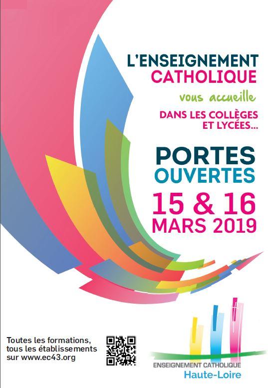 portes ouvertes les 15 et 16 Mars 2019