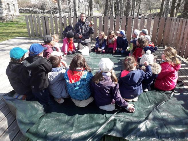 Première journée à l'école de la nature