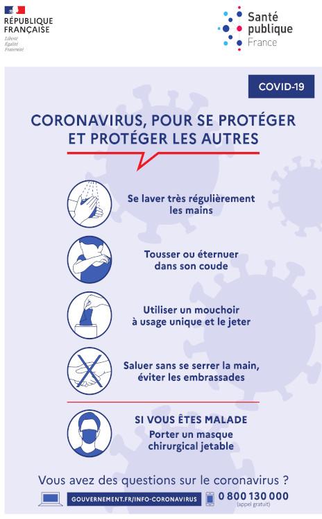 Informations coronavirus 15.03